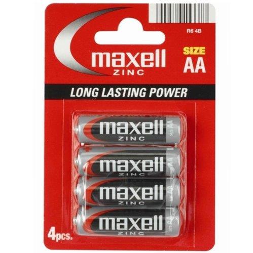 Maxell pila manganese zinc aa lr6 4 uds