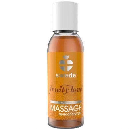 Aceite masaje efecto calor naranja albaricoque