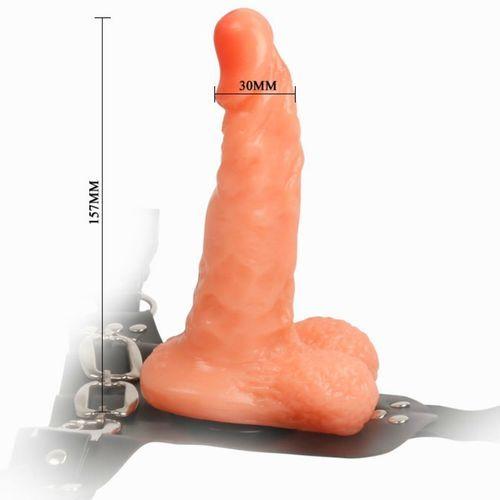 Arnés con pene realístico y braguita ajustable 6