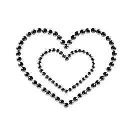 Cubre pezones Mimi Corazón negro