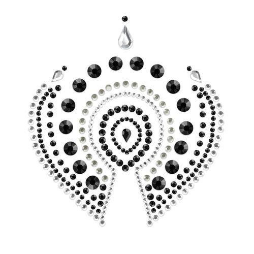 Joyería íntima Flamboyant Indiscrets negro y plata 2