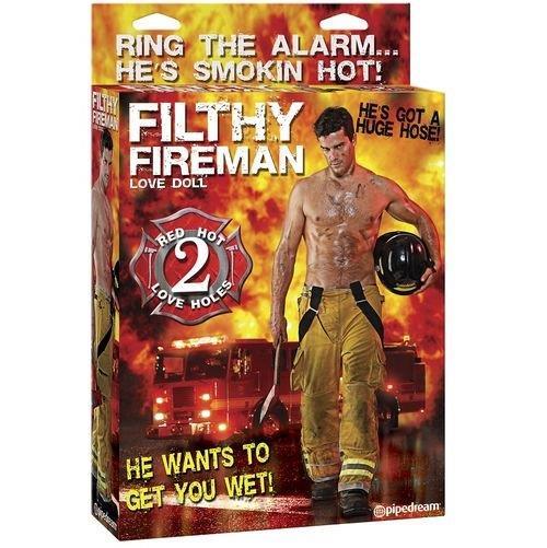 Muñeco hinchable bombero