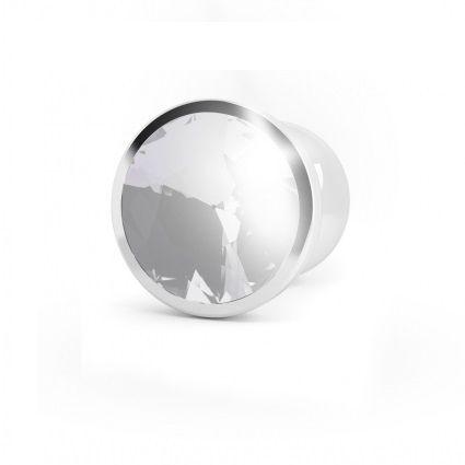 Plug anal de metal Silver Clear Saphire 1