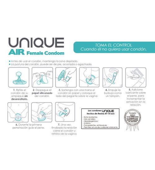 Preservativo femenino 3 uds Air 2