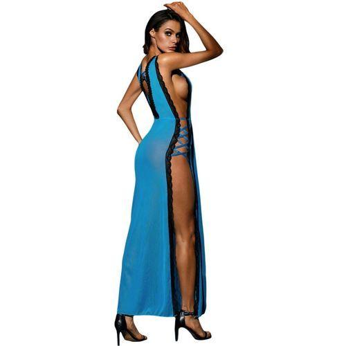 Vestido largo Queen Lingerie azul 2