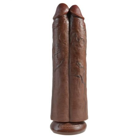 Dildo doble Two Cocks One Hole 30,5 cm marrón