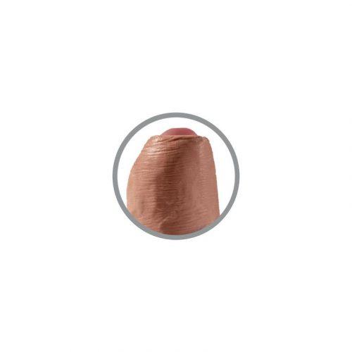 Dildo realista con glande retráctil bronceado 4