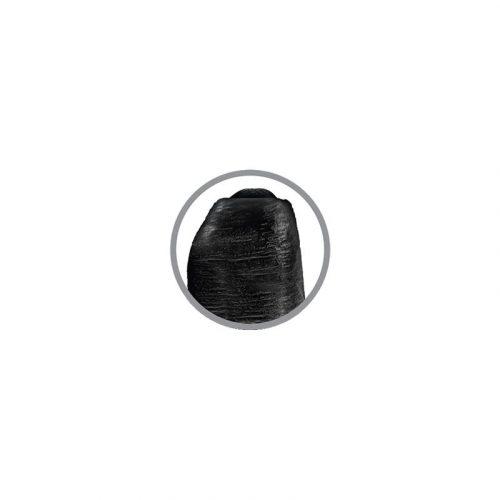 Dildo realista con glande retráctil negro 4