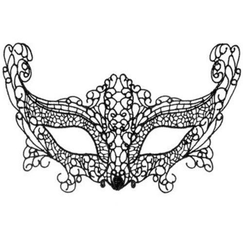 Máscara Veneciana La Muette negro