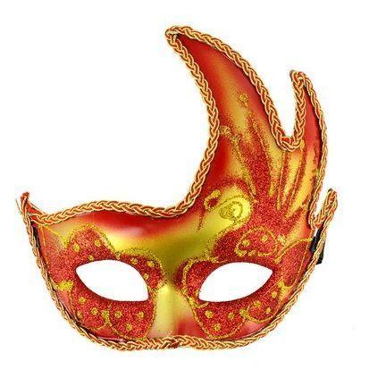 Máscara Veneciana con acabado rojo