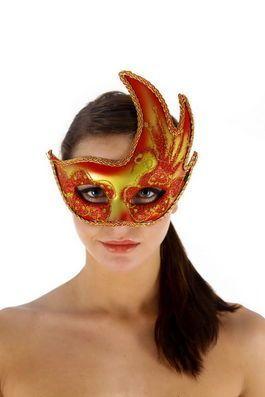 Máscara Veneciana con acabado rojo 2