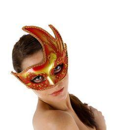Máscara Veneciana con acabado rojo 3