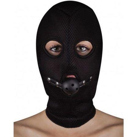 Máscara con 3 orificios con mordaza transpirable