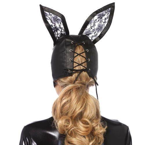 Máscara de cuero conejo negro 2