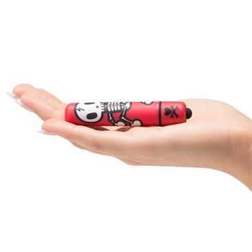 Mini bala vibradora Jolly Roger rojo 3