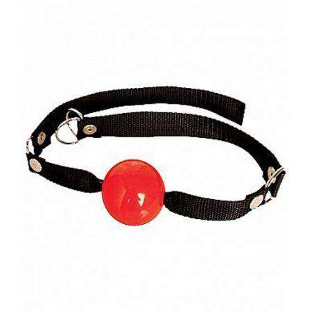 Mordaza con bola roja flexible