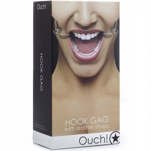 Ouch mordaza Hook Gag negro 2