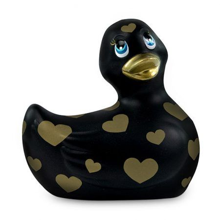 I RUB MY DUCKIE 2.0 | PATO VIBRADOR ROMANCE (BLACK & GOLD)