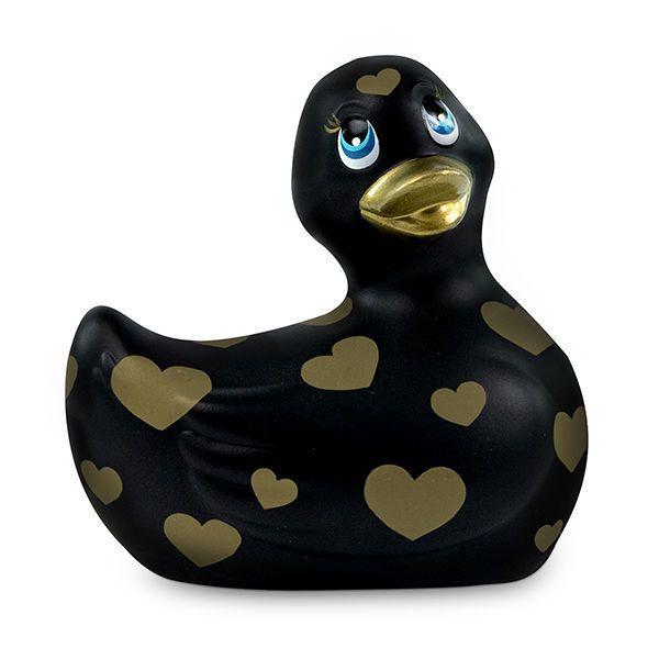 Pato vibrador negro y oro I Rub My Duckie 2.0