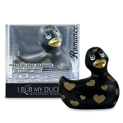 Pato vibrador negro y oro I Rub My Duckie 2.0 2