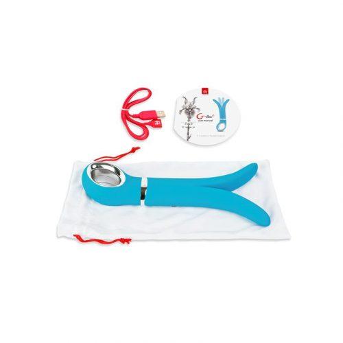 Vibrador masajeador Gvibe 2 azul 2