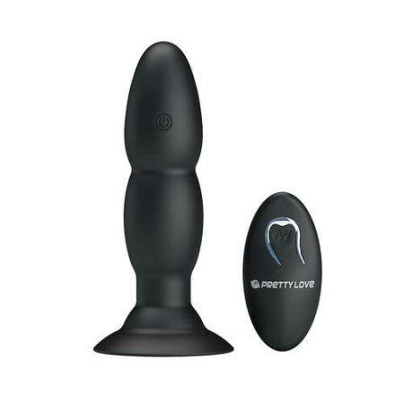Plug anal con vibración y rotación