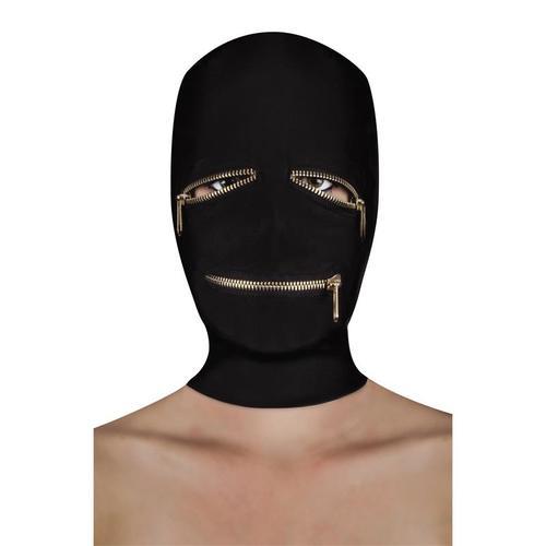 Máscara de sumisión con cremallera