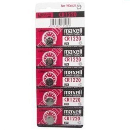 Pack de pilas boton de litio CR1220 blister 5