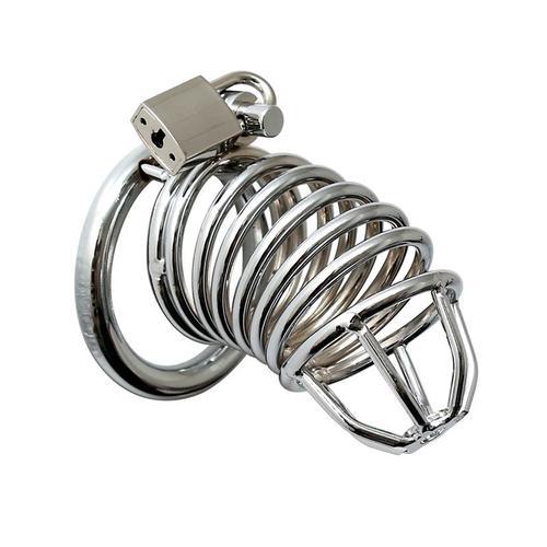 Jaula de castidad con anillas de metal