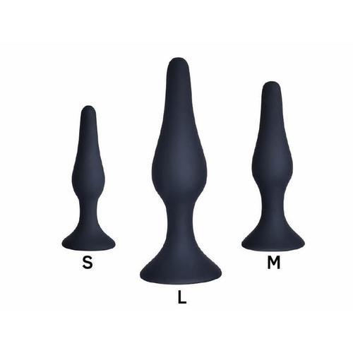 Pack de 3 Plug anal silicona