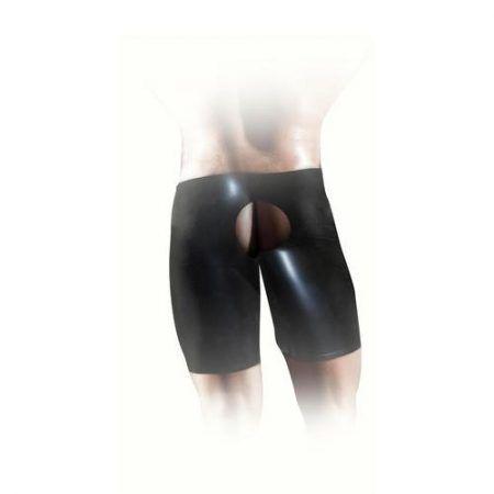 Pantalones cortos unisex de látex negro