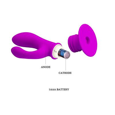 Plug anal con vibración Deft color púrpura 6