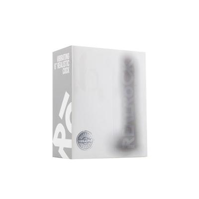 Pene realístico con vibración y escroto 1524 cm transparente 2