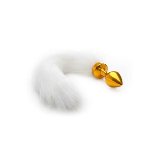 Plug anal con cola blanca