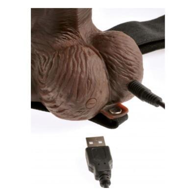 Arnés elástico con dildo hueco con control remoto 4