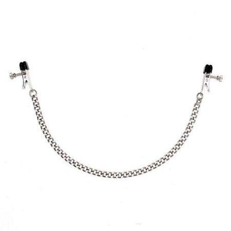 Pinzas con cadena de metal para pezones 3 Rimba