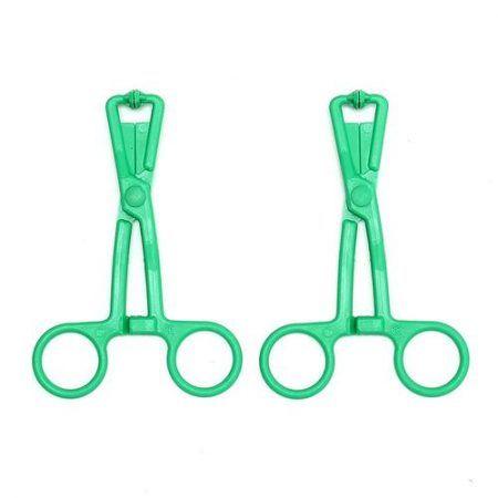 Pinzas para pezones verdes