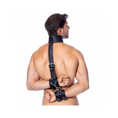 Ataduras de cuero para cuello y manos