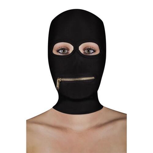 Máscara con cremallera en la boca