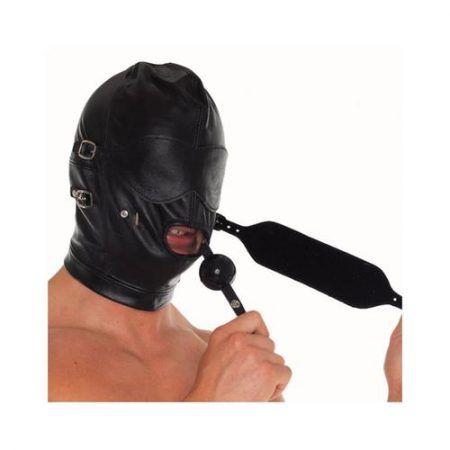 Máscara de cuero ajustable