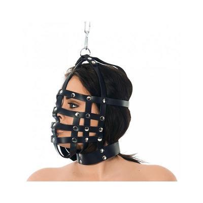 Máscara de cuero con forma de bozal ajustable 2