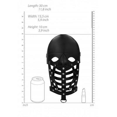 Máscara de cuero masculina Ouch 4