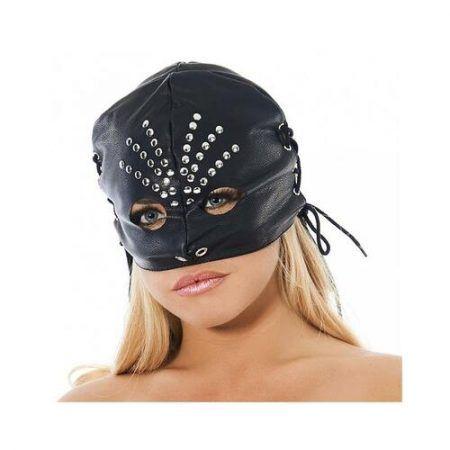 Máscara de media cabeza cuero ajustable