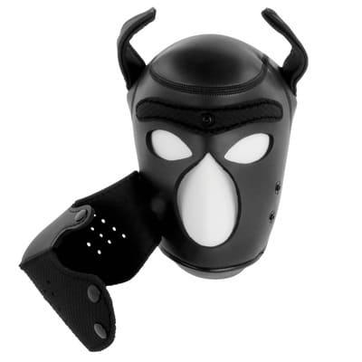 Máscara perro de neopreno con hocico extraible 3
