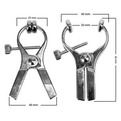 Pinzas metálicas de electro shock 6