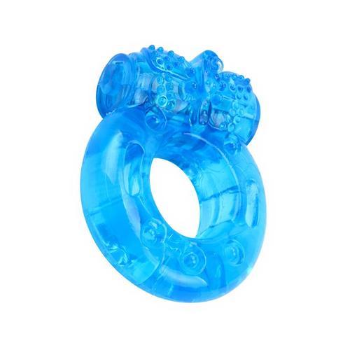 Anillo para el pene y vibración azul