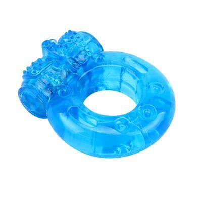 Anillo para el pene y vibración azul 2