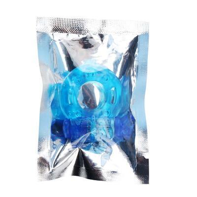 Anillo para el pene y vibración azul 7