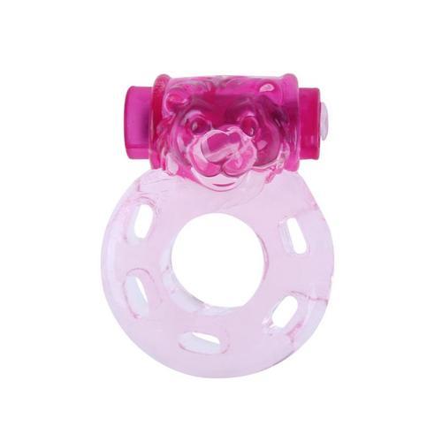 Anillo vibrador oso color rosa