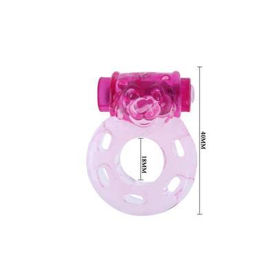 Anillo vibrador oso color rosa 3